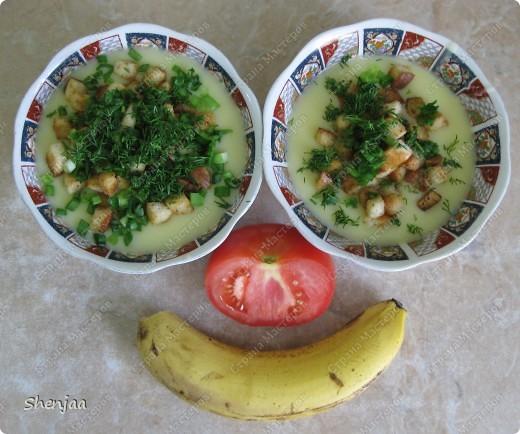 Картофельный суп-пюре с гренками и чесноком фото 1
