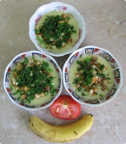 Картофельный суп-пюре с гренками и чесноком фото 3