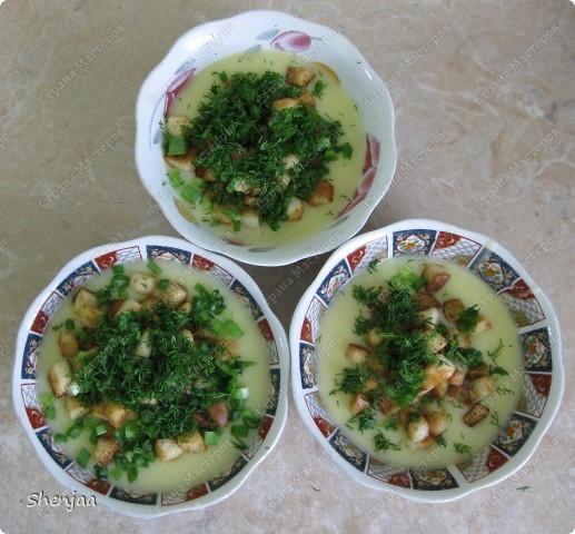 Картофельный суп-пюре с гренками и чесноком фото 2