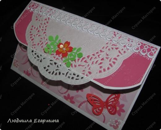 Представляю конверт для денежного подарка для женщины на юбилей.  фото 3