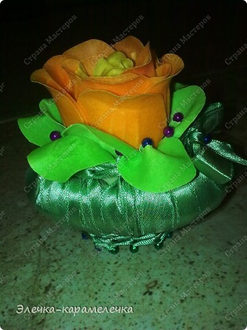 добрый вечер!!! хочу вам представить еще одну мыльную корзиночку, делала для подарка в любимых тонах получателя!!! фото 1