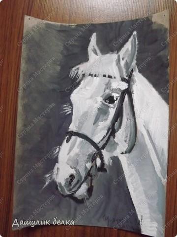 набросок лошади )