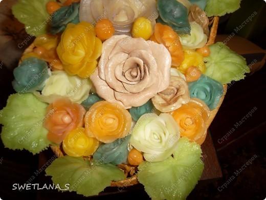 Весенние корзинки с цветочками из холодного фарфора. фото 6