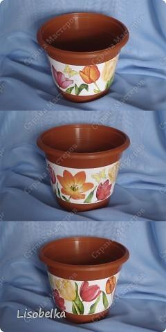 Простенький стаканчик с простеньким декупажем превратился в вазочку. фото 3