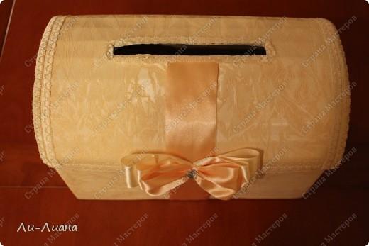 Спасибо Eis за подробнейший мастер-класс по созданию сундучков для свадебных подарков! http://stranamasterov.ru/node/213381?c=favorite  Делала всё по ее МК. Только декор поменяла фото 4