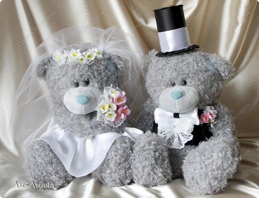 Мишки на свадебную машину