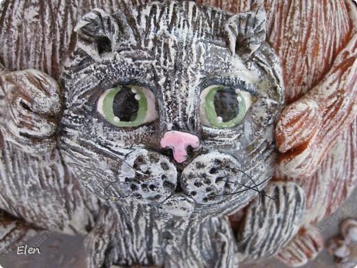 Семейство котов,размер 30x30,фон светлее,на фото очень темным кажется фото 3