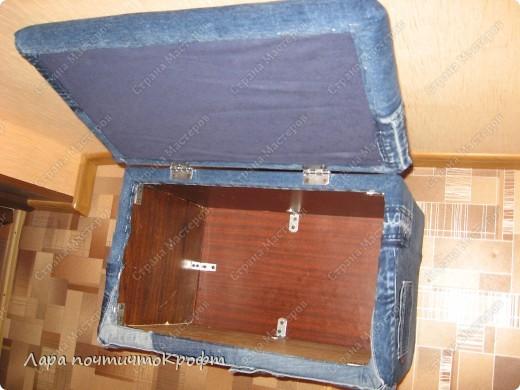Очень захотелось сделать эдакий придиванный пуф-ящик, тем более что был новый отрез гобелена (остаток от покрывала на этот же диван). размер Ш 72 * Г 40 * В 46. на крышку проложен поролон толщиной 5 см. мягенько так посидеть) фото 15