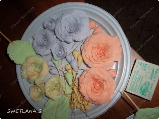 Весенние корзинки с цветочками из холодного фарфора. фото 9