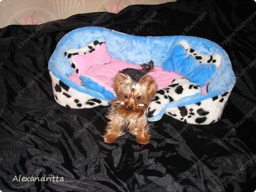 Когда-то решила сшить собаке лежанку...подумала и решила в виде косточки.. фото 4