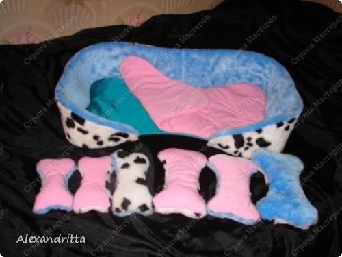 Когда-то решила сшить собаке лежанку...подумала и решила в виде косточки.. фото 2