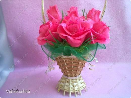 Привет всем моим гостям) Перед вами корзинка сладких роз, которую сделала в подарок для нашей соседки.... фото 2