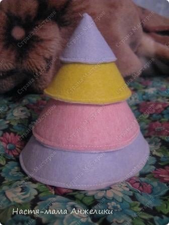 Пирамидка,по идеям из моей копилки на жестком диске(выкройки с идеей с сайта Shilopop.com)))) Сделаны из вискозных кухонных салфеток и липучек. фото 1
