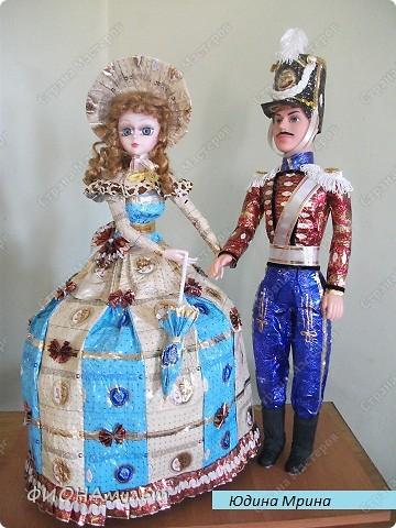 """Продолжаем наряжать кукол.Барышня и гусар,время балов,""""шуршание"""" платьев- ассоциативный ряд для творчества. фото 1"""