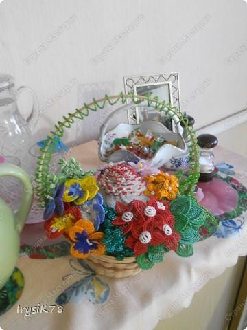 Этот букет для нашей мамы сделала моя младшая сестра Аня, хочу чтобы все просто полюбовались на это чудо фото 2