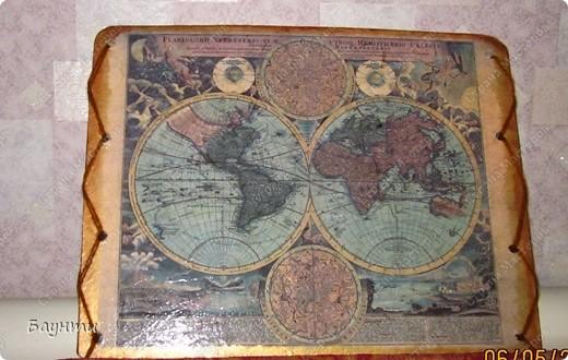 Карта мира(декупажная карта). фото 1