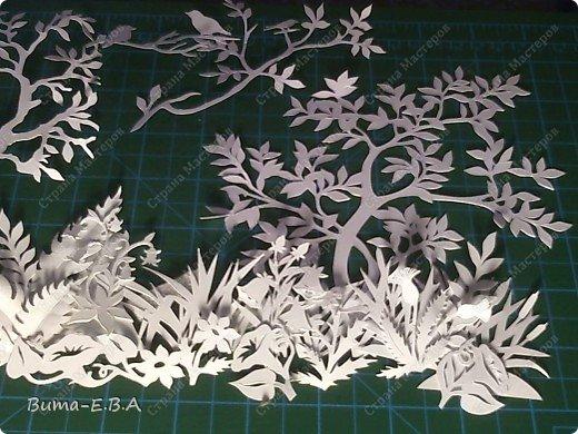По просьбам моих друзей, я решила показать детали моей будущей картины....вырезаны  из бумаги разной плотности, 180, 250,150.   фото 18