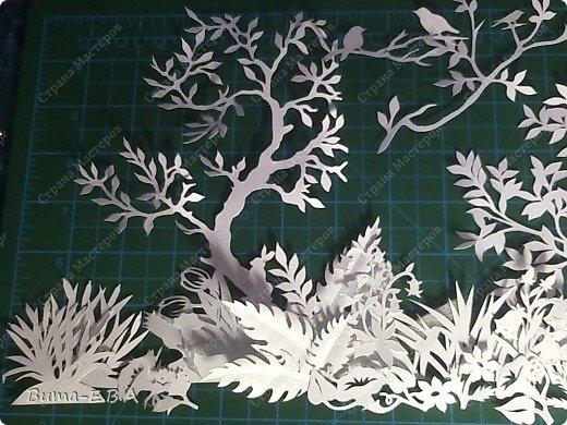 По просьбам моих друзей, я решила показать детали моей будущей картины....вырезаны  из бумаги разной плотности, 180, 250,150.   фото 19