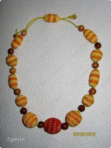 """""""Капучино"""" Обязанные деревянные бусины 100% ирис. Можжевеловые бусины. Вощенный шнур. фото 4"""