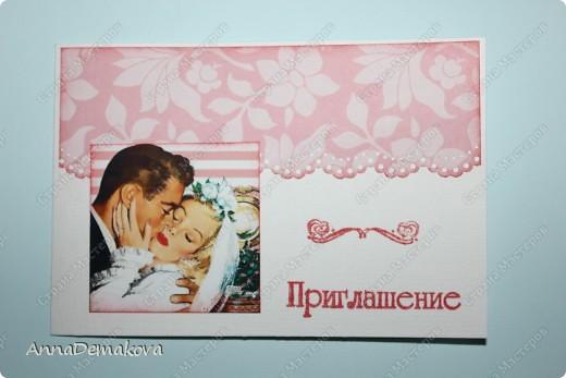 Совсем скоро выходит замуж дорогая моему сердцу девушка. Зная моё увлечение, Настена попросила меня сделать пригласительные на свадьбу. Мы с ней подобрали картинки и вот что у меня получилось. фото 3