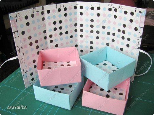 Мастер-класс Упаковка Многоярусная шкатулка + МК Бумага фото 16