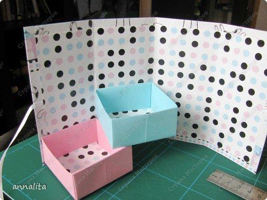 Мастер-класс Упаковка Многоярусная шкатулка + МК Бумага фото 19