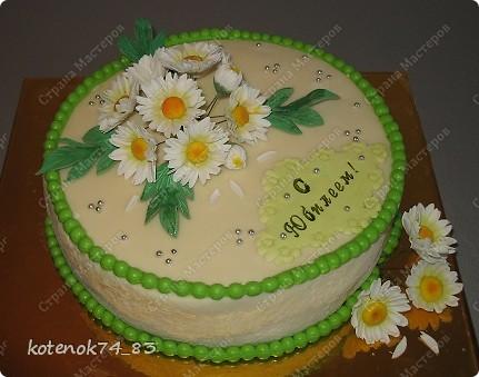 Торт для женщины, которой сердцу милы ромашки...   фото 1