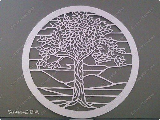 Недавно увидела такое прелестное деревце, и сразу загорелось его вырезать..  и показать вам эту нежную натуру деревца!!! фото 1