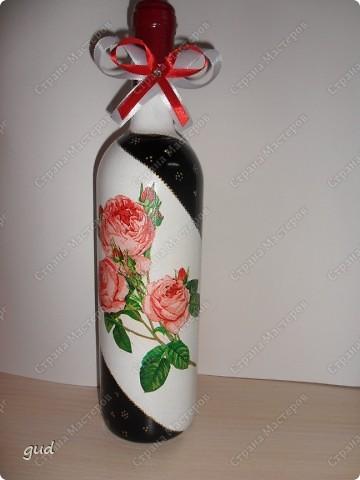 Очень трудно (мне по крайне мере) придумать оформление бутылки с содержимым для мужчины. Очень трудно (времени было всего 2 дня) родилась вот такая бутылочка фото 10