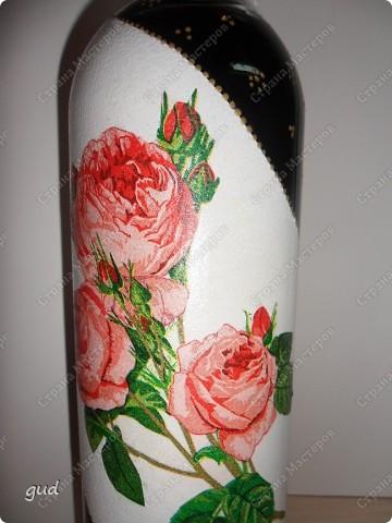 Очень трудно (мне по крайне мере) придумать оформление бутылки с содержимым для мужчины. Очень трудно (времени было всего 2 дня) родилась вот такая бутылочка фото 12