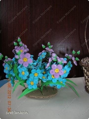 Здравствуйте, жители Страны Мастеров! Я предлагаю Вашему вниманию описание процесса изготовления миниатюрной корзинки для квиллинговых цветов.  фото 13