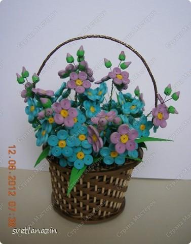 Здравствуйте, жители Страны Мастеров! Я предлагаю Вашему вниманию описание процесса изготовления миниатюрной корзинки для квиллинговых цветов.  фото 14