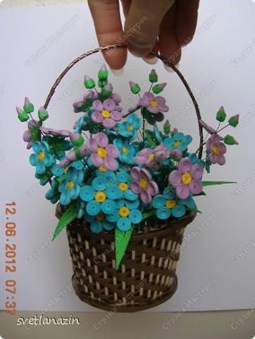 Здравствуйте, жители Страны Мастеров! Я предлагаю Вашему вниманию описание процесса изготовления миниатюрной корзинки для квиллинговых цветов.  фото 1