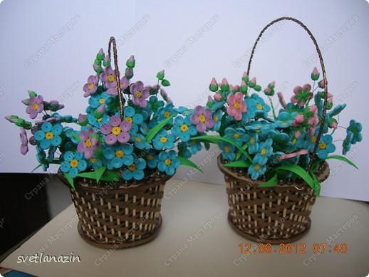 Здравствуйте, жители Страны Мастеров! Я предлагаю Вашему вниманию описание процесса изготовления миниатюрной корзинки для квиллинговых цветов.  фото 15