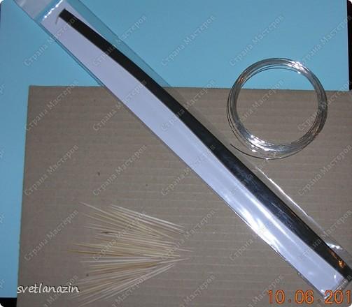Мастер-класс Квиллинг Корзинка для квиллингового букета Бумажные полосы Картон Проволока фото 2