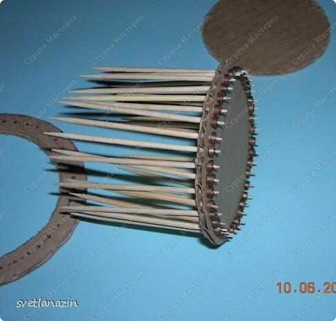 Мастер-класс Квиллинг Корзинка для квиллингового букета Бумажные полосы Картон Проволока фото 5