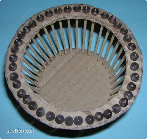 Мастер-класс Квиллинг Корзинка для квиллингового букета Бумажные полосы Картон Проволока фото 8