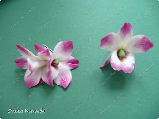 """Училась делать дендробиум нобиле, немного """"накосячила"""" с пыльником, поняла, что с моим перфекционизмом на реалистичный цветок такие слегка бракованные цветочки не пойдут, остается что... бижутерия.) Сделала две брошечки фото 1"""
