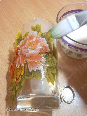Предлогаю сегодня мастер-класс по декупажу ПРЯМО НА стекло.......... фото 7