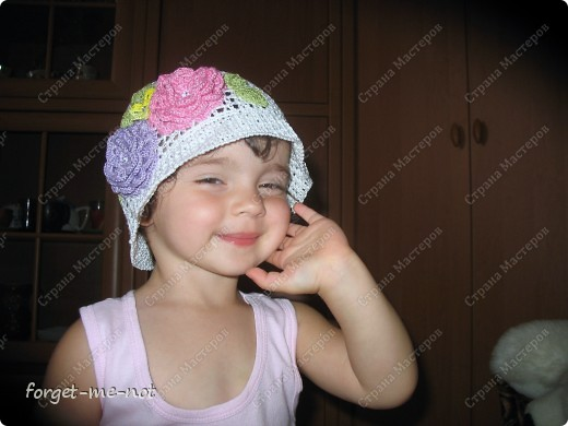 Вот такую панамку связала для доченьки своей подружки фото 5