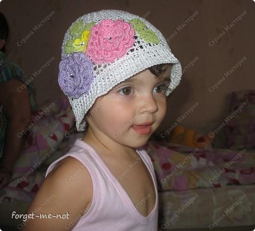 Вот такую панамку связала для доченьки своей подружки фото 4