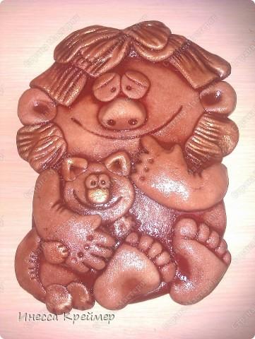 Мастер-класс День семьи Лепка ДОМОВЕНОК Тесто соленое фото 8