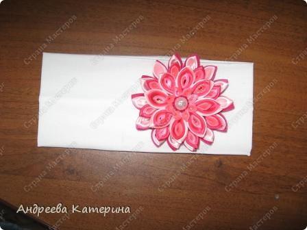 повязочка к лету. первый раз делала такой сложный цветок. подсмотрела в одноклассниках, уж больно понравился! захотелось поделиться! как вам? фото 1