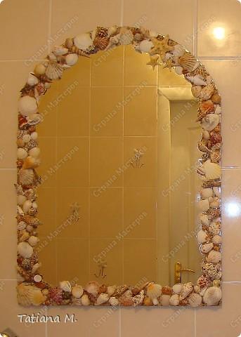 Еще одно зеркало с ракушками фото 1