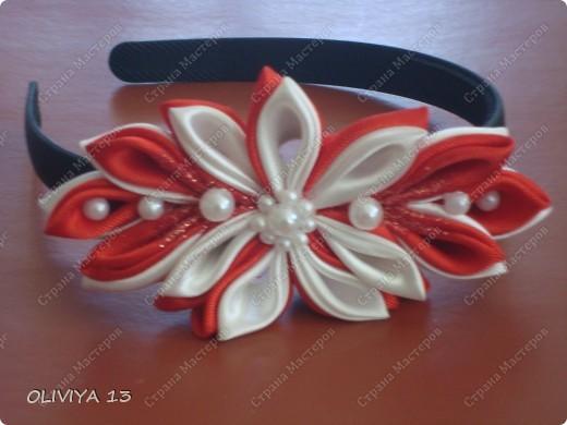 "Ещё несколько моих работ. Шпильки ""Белые цветы "" заказ фото 6"
