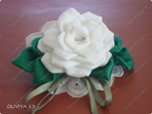 "Ещё несколько моих работ. Шпильки ""Белые цветы "" заказ фото 10"
