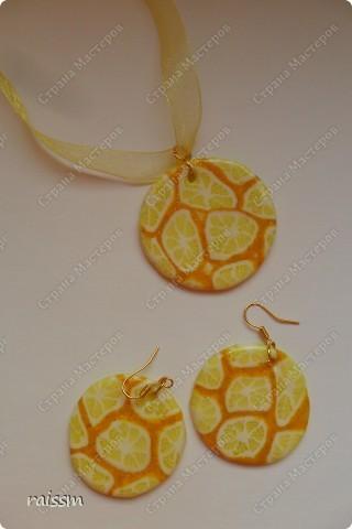 Сочный лимон-браслет и серьги. фото 2