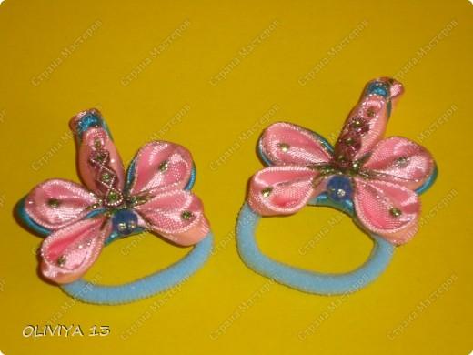 Букашки на резиночках ,идеи из нета .Бабочки  фото 7