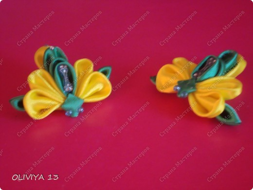 Букашки на резиночках ,идеи из нета .Бабочки  фото 10