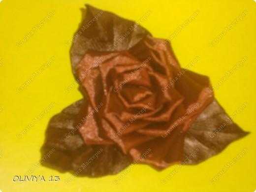 """Привет всем ! на этой странице я хочу ва показать следующие работы : резинка """" Шоколадная роза """" фото 1"""